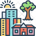Hometown City Building Icon