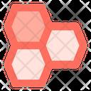 Honey Bees Honeycomb Icon