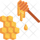 Honey Honeycomb Bee Icon