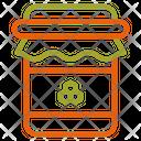Honey Jar Jam Autumn Icon