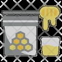 Honey Jar Bee Coffee Icon