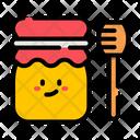 Honey Jar And Stick Honey Jar Stick Icon