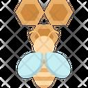 Bee Honeycomb Tree Icon