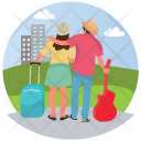 Honeymoon Couple Trip Icon