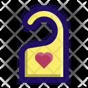 Honeymoon Hotel Love Icon