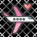 Honeymoon Trip Travel Icon