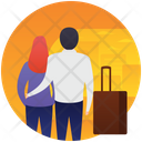 Honeymoon Couple Picnic Couple Icon