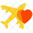 Honeymoon Airplane Heart Icon