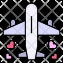 Honeymoon Travel Plane Icon