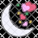 Honeymoon Night Half Moon Icon