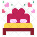 Marriage Heart Double Bed Icon