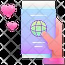 Honeymoon Passport Travel Icon