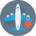 Honeymoon Romantic Airplane Icon