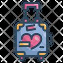Honeymoon Bag Travelling Bag Love Bag Icon