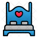 Honeymoon Bed Furniture Icon