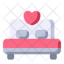 Bed Love Wedding Icon