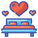 Honeymoon Bed Bed Furniture Icon