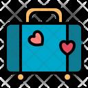 Luggage Love Romance Icon