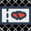 Honeymoon Ticket Icon