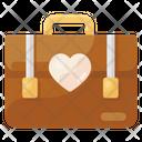 Portfolio Honeymoon Travel Suitcase Icon