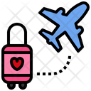 Honeymoon Travel Honeymoon Love And Romance Icon