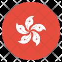 Hongkong Flag Circle Icon