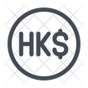 Hongkong Dollar Currency Icon