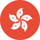 Hongkong Flag World Icon