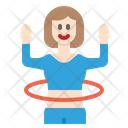 Hula Hoop Exercising Icon