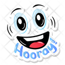Hooray Sticker Icon