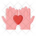 Hope Love Support Love Care Icon