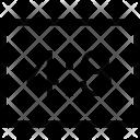 Horizoltal Rectangle Ratio Icon
