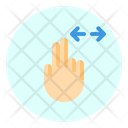 Horizontal Finger Gesture Icon