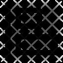Horizontal Align Left Align Icon