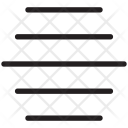 Horizontal Bars Line Icon