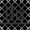 Horizontal Bottom Ui Icon