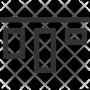 Horizontal Top Alignment Icon
