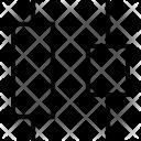 Horizontal Distribute Middle Icon