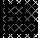 Horizontal Align Left Design Icon