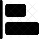 Design Solid Horizontal Align Left Icon