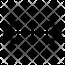 Horizontal Arrow Arrow Direction Icon
