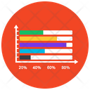 Horizontal Bar Chart Statistics Infographic Icon