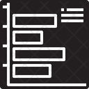 Horizontal Bar Graph Icon