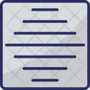 Horizontal Bars Icon