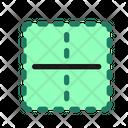 Horizontal Border Cell Icon