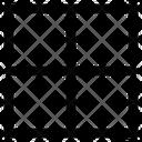 Horizontal Center Border Icon