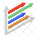 Data Visualization Graphic Representation Horizontal Chart Icon