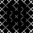Horizontal distribute center Icon