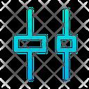 Horizontal Distribute Center Align Icon