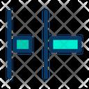 Horizontal Distribute Left Align Icon
